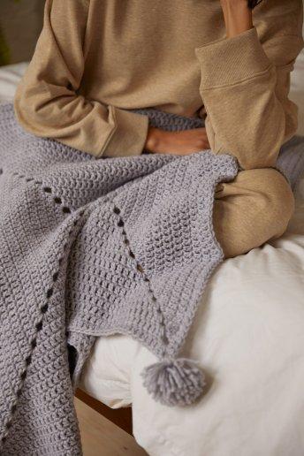 Kit croché - Manta confortável