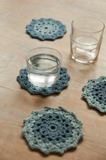 Kit croché - Bases para copos mandala