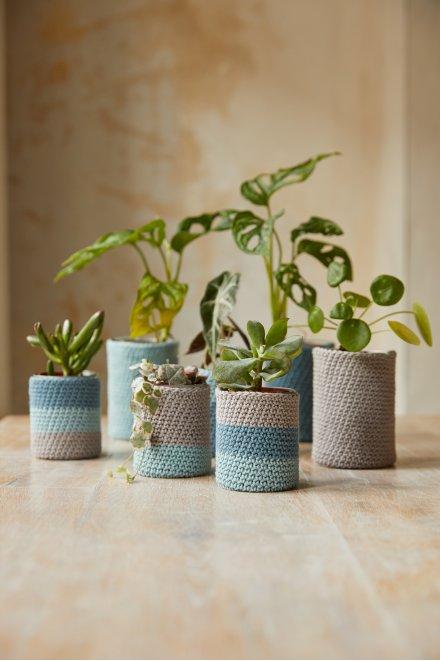 The Peaceful Plant Pots Crochet Kit