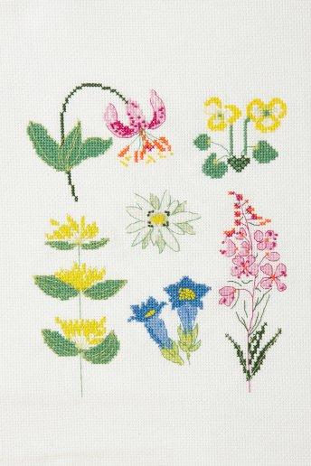 Kit Ponto de cruz - Flores de prado