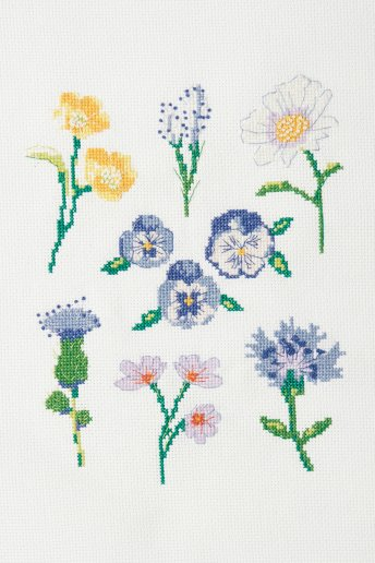 The Peaceful Flowers Cross Stitch Kit