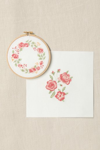 Duo Kit Ponto de Cruz - Perfume de rosas