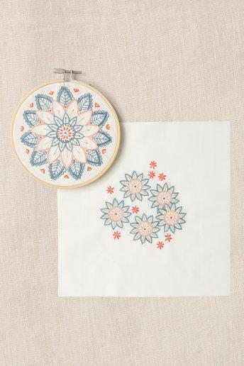 Duo Kit bordado - Flores de levante