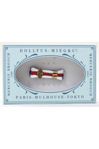 Mercerie Brooch 「メルスリーブローチ/3色刺しゅう糸」
