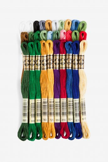 DMC Six Strand Embroidery Floss Holiday Pack