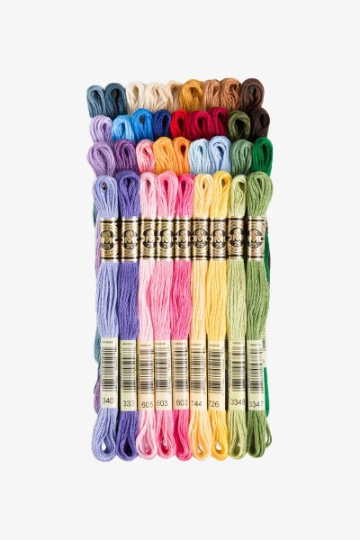 Bright Chri Themed Colours Floss Brand New Set Of 10 Embroidery Threads