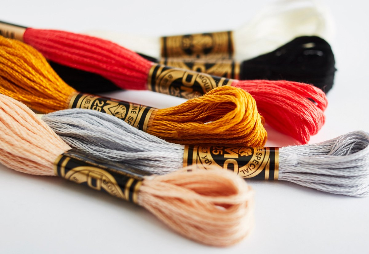 10 Skeins of DMC 6-strand Egyptian Cotton Embroidery Floss Scroll Down in the Description to Choose the Colors you need for Your Project