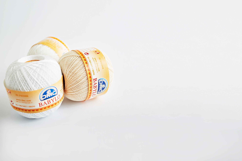 Hilo para ganchillo babylo blanco/beige 100gr grosor 10 147ad-p