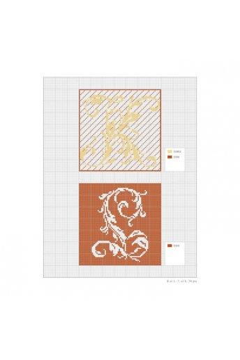 装飾文字のクロスステッチ図案集