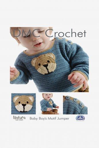 Baby Boy's Motif Sweater Pattern Leaflet
