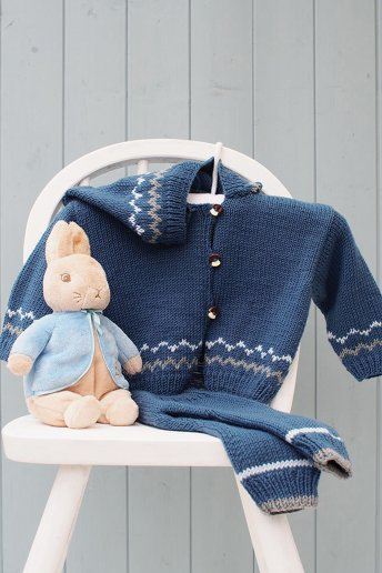 Baby Boy's Hooded Cardigan & Trouser Set