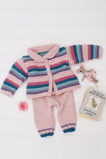 Baby Girl's Cardigan & Trouser Set
