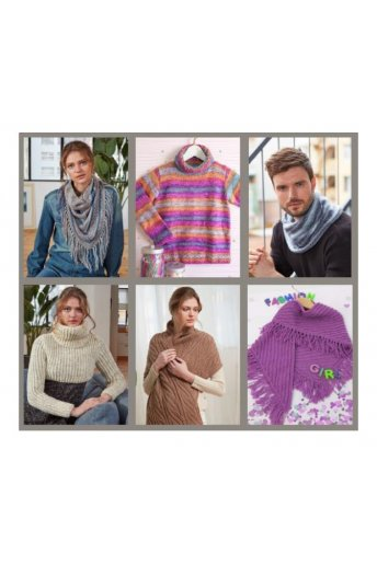Catalogue 6 modèles laine Knitty 4 pop