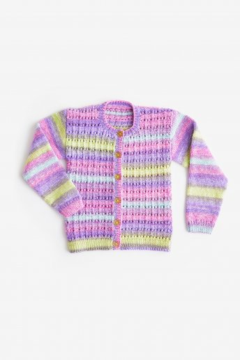 Modello Knitty pop cardigan bambina