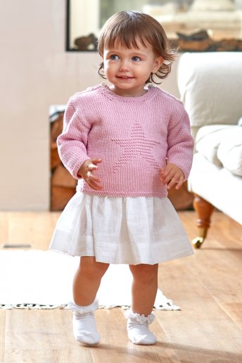 Modèle Baby Cotton pull fille 5269