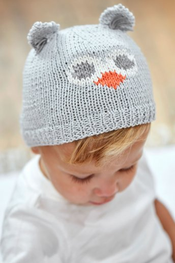 Modèle Baby Cotton bonnet hibou 5275