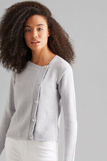Modelo chaqueta asimétrica mujer Natura Bamboo  n°1143