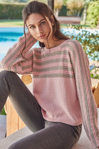 Womens' sweater pattern Natura n°6820