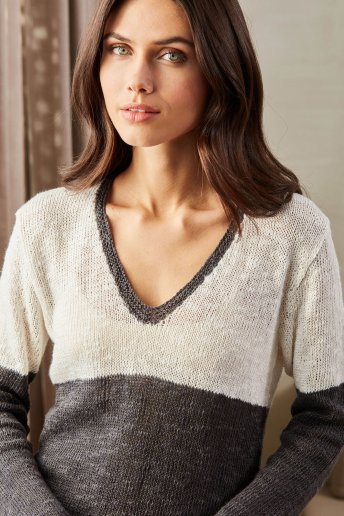 Women's sweater pattern Natura Linen n°6776