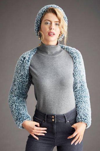 Modelo Bolero y gorro Samara para mujer