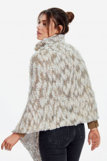 Modello Marylin poncho per donna - SPIEGAZIONI GRATUITE