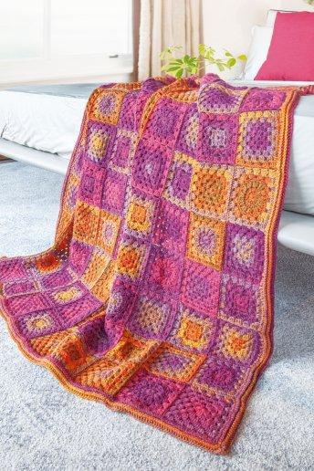 Explicaciones Modelo Brio plaid granny crochet