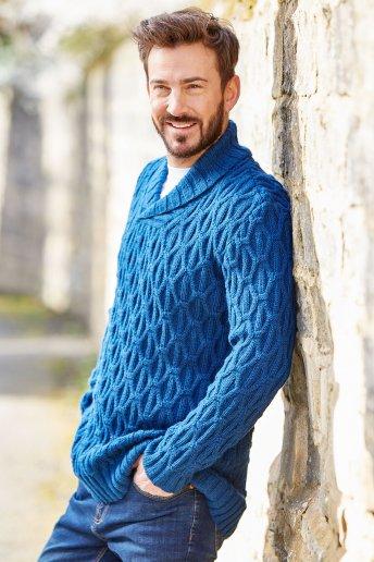 Modelo Merino Essentiel camisola homem