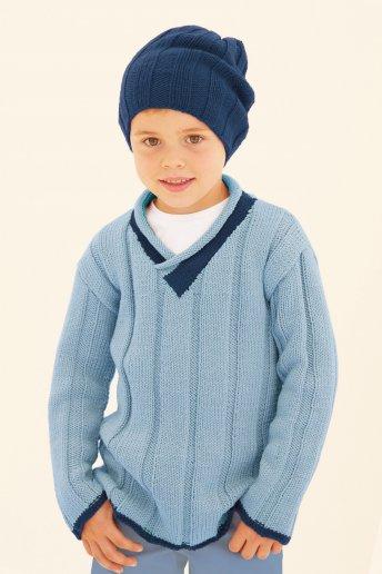 Modello Merino Essentiel 4 pull e cappello bambino