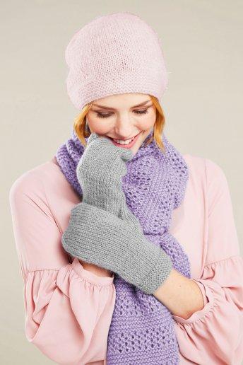Modello Midnight completo sciarpa, cappello e guanti - SPIEGAZIONI GRATUITE