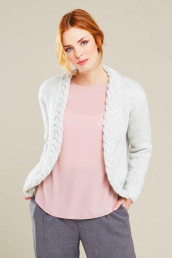 Modello Midnight giacca con motivo a treccia - SPIEGAZIONI GRATUITE