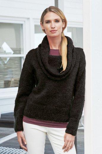 Modelo Ankara Jersey cuello amplio mujer