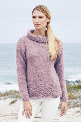 Modelo Ankara jersey de ondas para mujer - EXPLICACIONES GRATIS