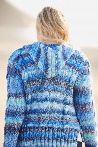 Modèle Colorful pull à capuche  pour femme