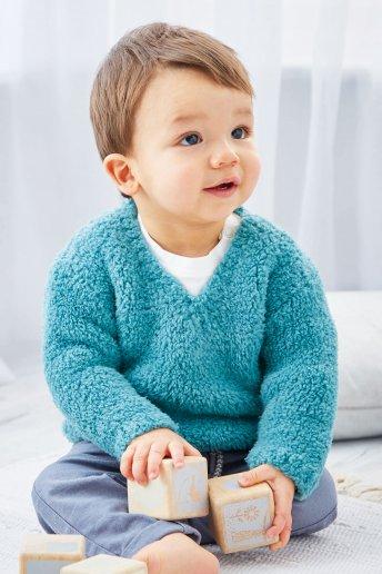 Modelo Teddy Camisola de bebé - Explicações grátis