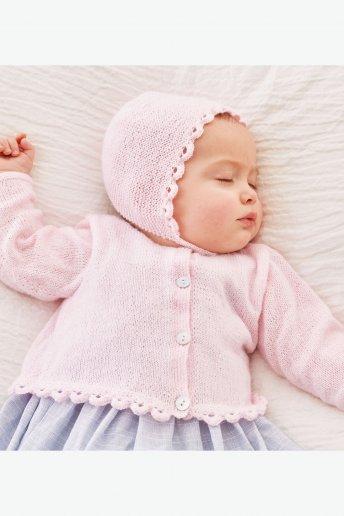 Modelo Sweetie Casaco para bebé - SPIEGAZIONI GRATUITE