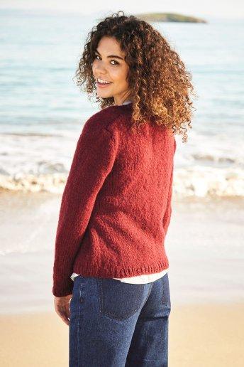 Modèle cache coeur femme en laine Nikita - explications gratuites