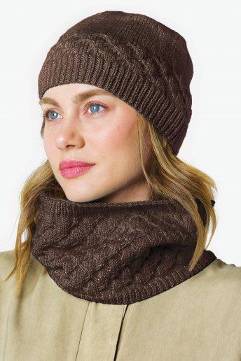 Modello Woolly Chic cappello e scaldacollo per donna