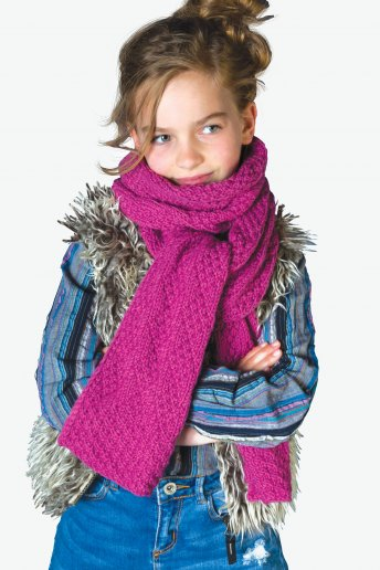 Modello Woolly 5 sciarpa per bambini - SPIEGAZIONI GRATUITE