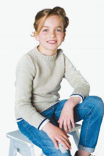 Modello Woolly pull per bambino - SPIEGAZIONI GRATUITE