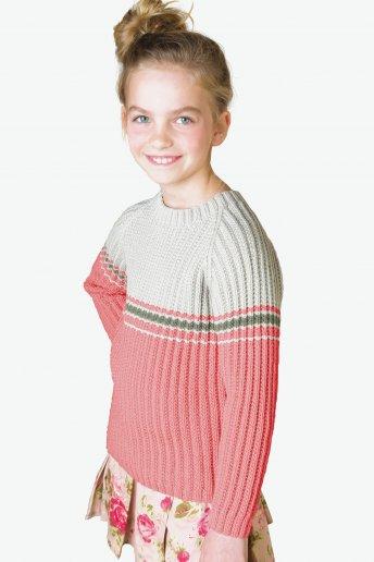 Modello Woolly pull bicolore per bambino - SPIEGAZIONI GRATUITE