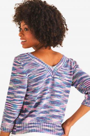 Modelo Natura Multico jersey para mujer -  explicaciones gratis