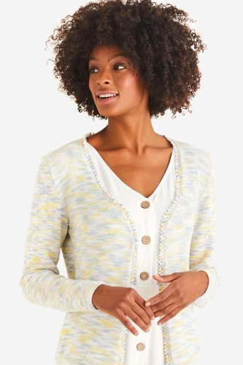 Modello Natura multicolor cardigan donna