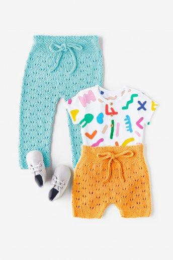 Modelo 100% Baby Cotton pantalón corto para bebé