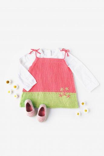 Modelo 100% Baby Cotton Vestido de alças - SPIEGAZIONI GRATUITE