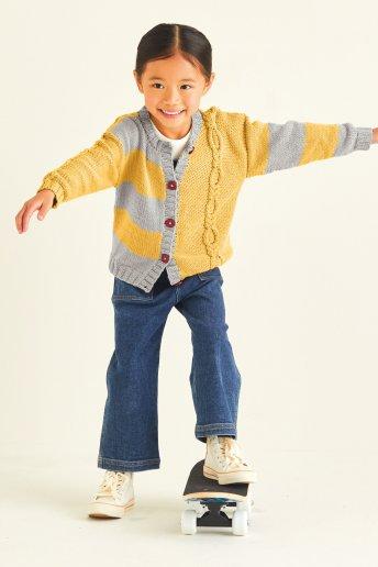 Modelo Merino Essentiel 3 chaqueta niña -  EXPLICACIONES GRATIS