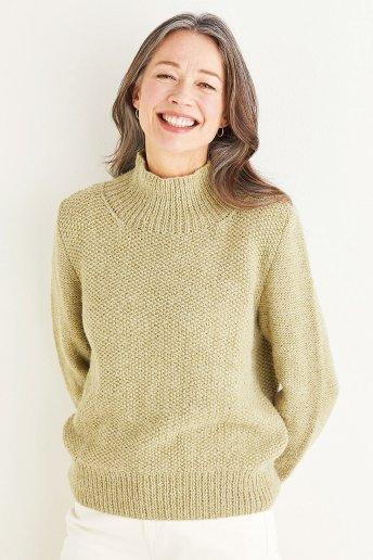Modello Andes maglia donna a collo alto - spiegazioni gratuite
