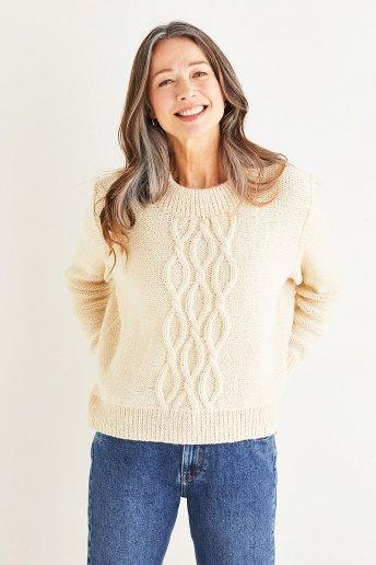 Modelo Andes jersey trenzas mujer - EXPLICACIONES GRATIS