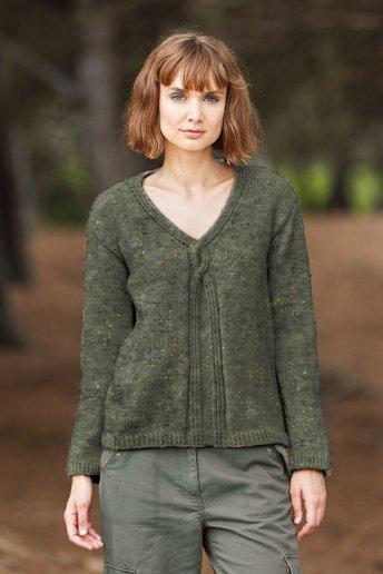 Modèle Magnum tweed pull col V femme