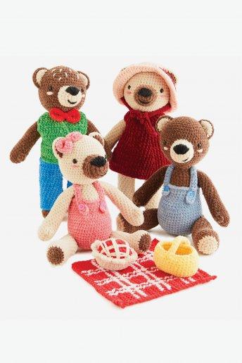 Book n°6 uncinetto Happy Chenille Il picnic degli orsetti