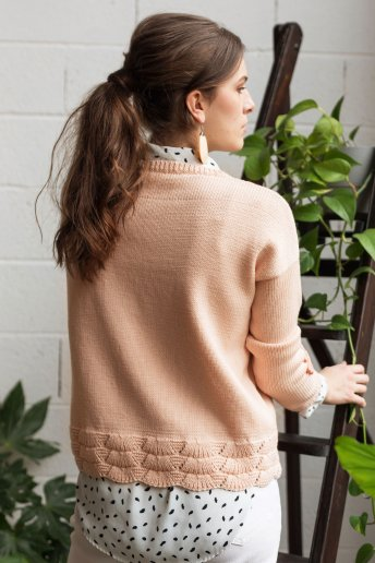 Modelño Wooly jersey con motivos para mujer